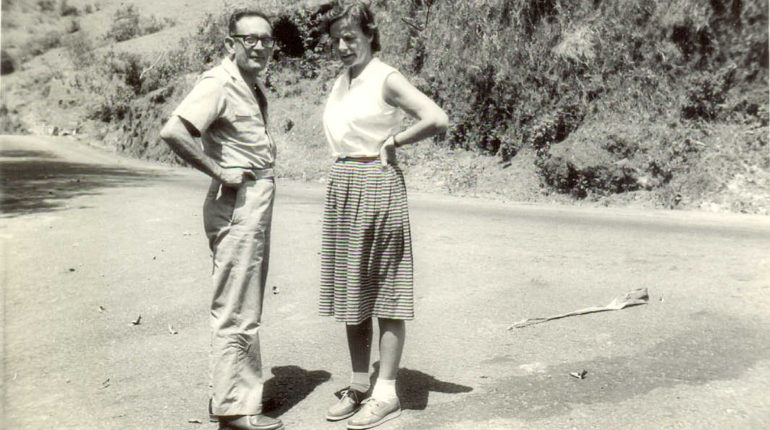 Hans Liepmann with his wife Dietlind (Photo courtesy: Roddam Narasimha)