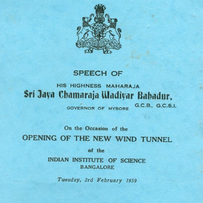 Cover of Maharaja's speech