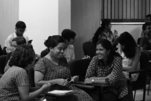 Cooperative learning was an integral part of the workshop (Photo: Karthik Ramaswamy)