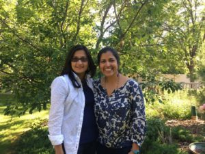 Maria Thaker (left) and Meena Balgopal (right) at CSU (Photo: Madhura Amdekar)