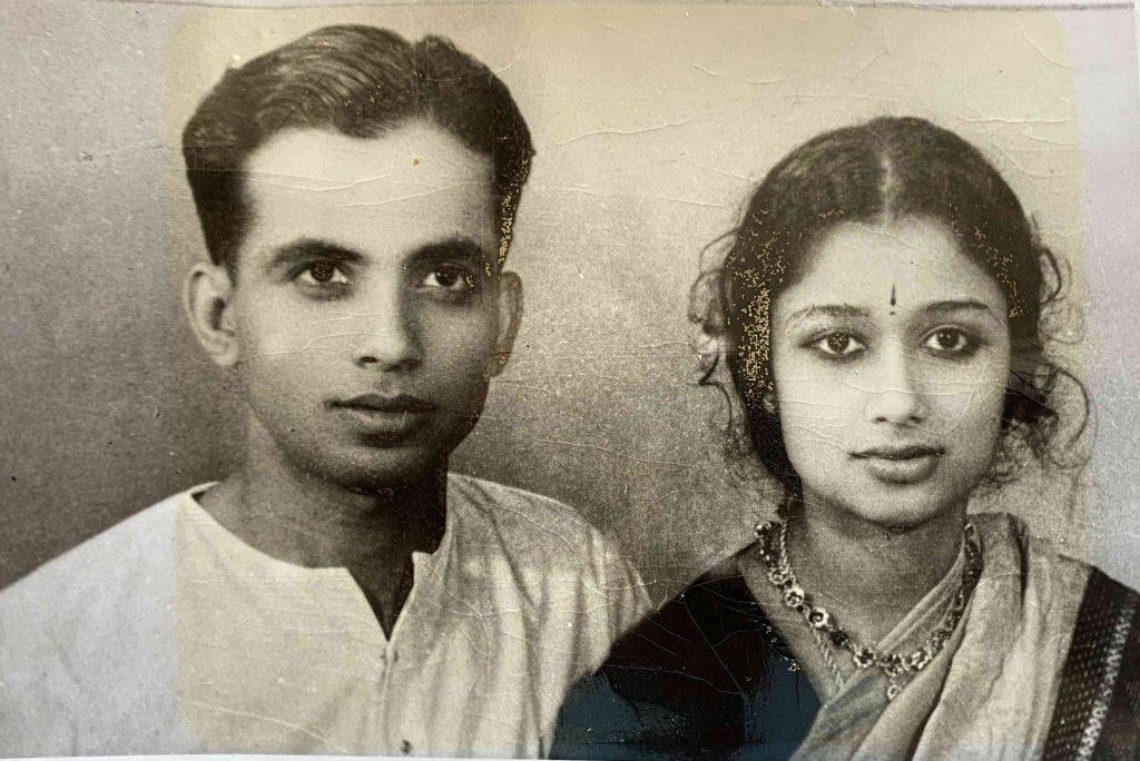 Krishnaswamy with Rukmini (Photo courtesy: PR Krishnaswamy)
